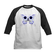 Blue Sugar Skull Butterfly Tee