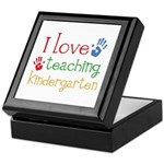 I Love Teaching Kindergarten Keepsake Box