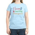 I Love Teaching Kindergarten Women's Light T-Shirt
