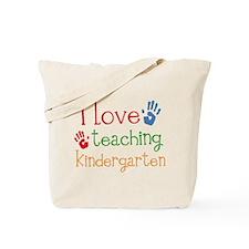 I Love Teaching Kindergarten Tote Bag
