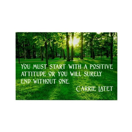 """Positive Attitude"" Rectangle Magnet"