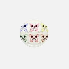 Sugar Skull Butterfly Display Mini Button
