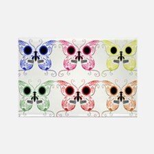 Sugar Skull Butterfly Display Rectangle Magnet