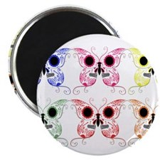 "Sugar Skull Butterfly Display 2.25"" Magnet (100 pa"