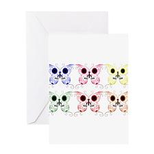 Sugar Skull Butterfly Display Greeting Card