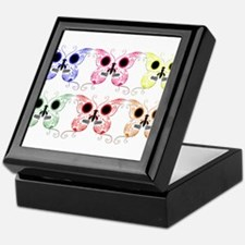 Sugar Skull Butterfly Display Keepsake Box