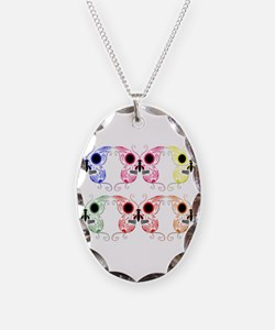 Sugar Skull Butterfly Display Necklace
