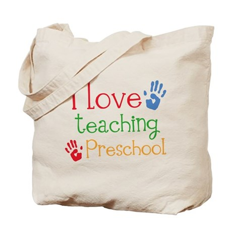 I Love Teaching Preschool Tote Bag