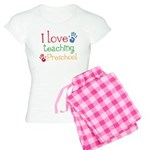 I Love Teaching Preschool Women's Light Pajamas