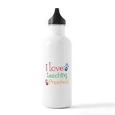 I Love Teaching Preschool Water Bottle