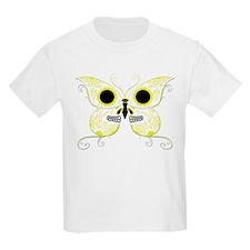 Yellow Sugar Skull Butterfly T-Shirt