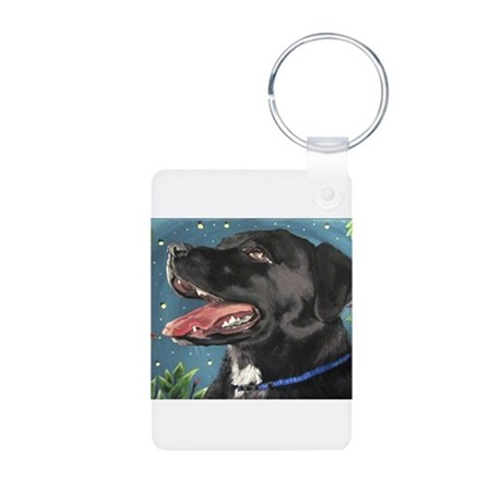 Sassy and the Fireflies Aluminum Photo Keychain