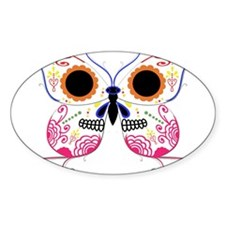 Multi Color Sugar Skull Butte Decal