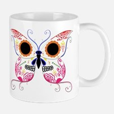 Multi Color Sugar Skull Butte Mug