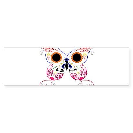 Multi Color Sugar Skull Butte Sticker (Bumper)
