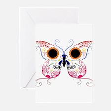 Multi Color Sugar Skull Butte Greeting Cards (Pk o