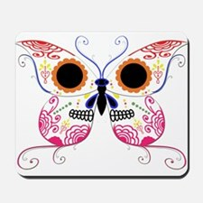 Multi Color Sugar Skull Butte Mousepad