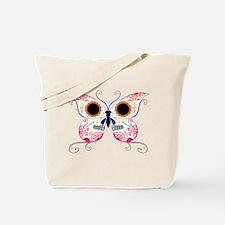 Multi Color Sugar Skull Butte Tote Bag