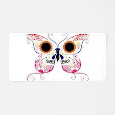 Multi Color Sugar Skull Butte Aluminum License Pla