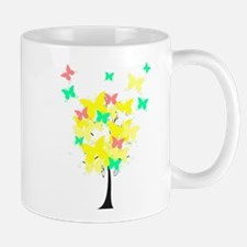 Yellow Butterfly Tree Mug
