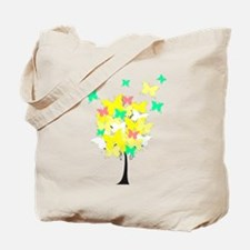 Yellow Butterfly Tree Tote Bag
