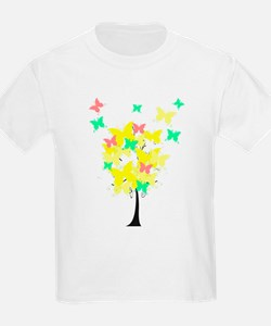 Yellow Butterfly Tree T-Shirt