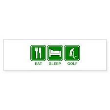 Eat Sleep GOLF Bumper Bumper Sticker