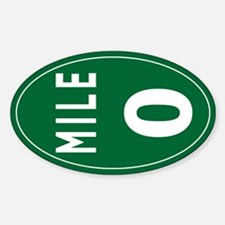 Mile 0 Stickers Sticker (Oval)