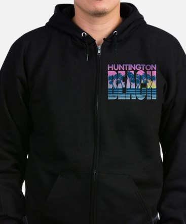 Huntington Beach Zip Hoodie (dark)