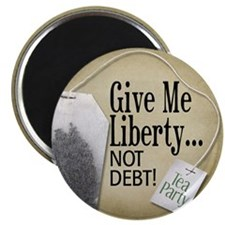 """'Give Me Liberty... NOT DEBT! 2.25"""" Magnet (100 pa"""