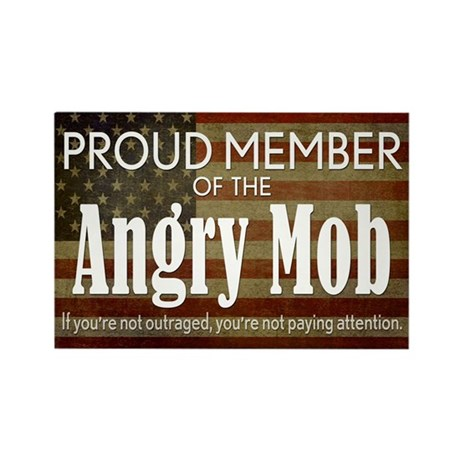 ANGRY MOB Rectangle Magnet (10 pack)