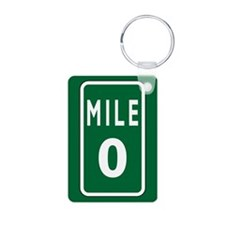 Mile 0 Stickers Keychains