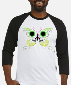 Yellow Multi Sugar Skull Butt Baseball Jersey
