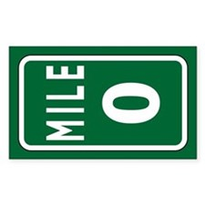 Mile 0 Stickers Decal