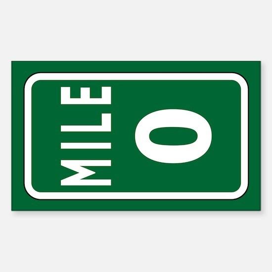 Mile 0 Stickers Sticker (Rectangle)