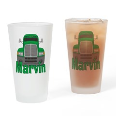 Trucker Marvin Drinking Glass