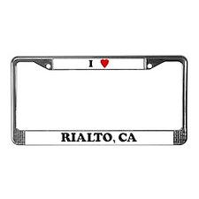 I Love Rialto License Plate Frame