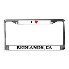 I Love Redlands License Plate Frame