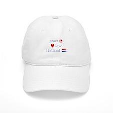 Peace, Love and Holland Baseball Cap