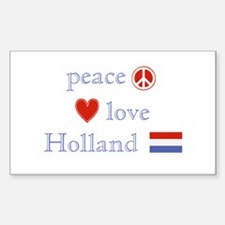 Peace, Love and Holland Decal