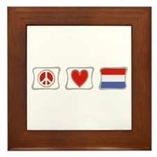 Peace, Love and Holland Framed Tile