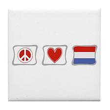 Peace, Love and Holland Tile Coaster