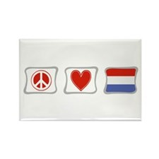 Peace, Love and Holland Rectangle Magnet