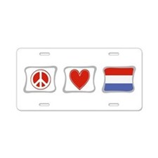Peace, Love and Holland Aluminum License Plate