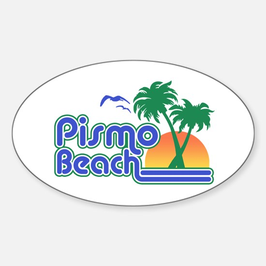 Pismo Beach Sticker (Oval)