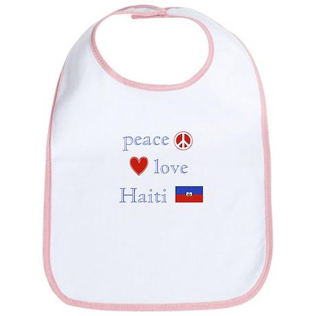 Peace, Love and Haiti Bib