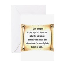 God Lets Us Watch Greeting Card