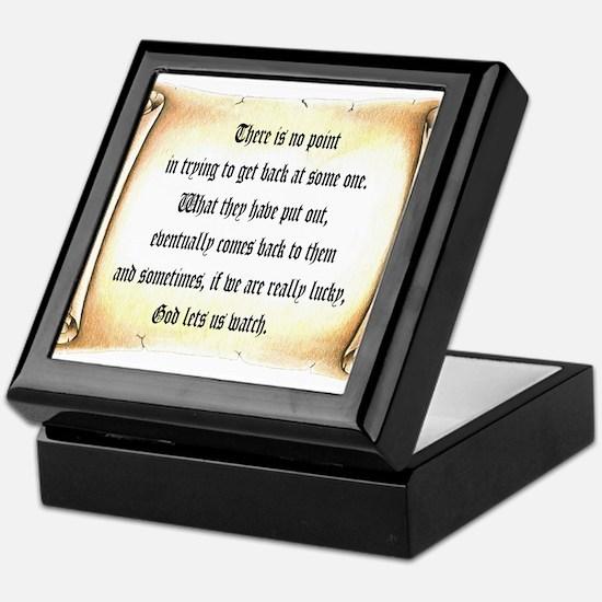 God Lets Us Watch Keepsake Box