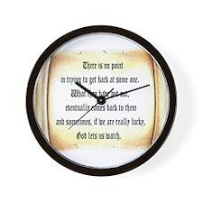 God Lets Us Watch Wall Clock