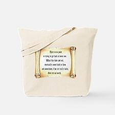 God Lets Us Watch Tote Bag